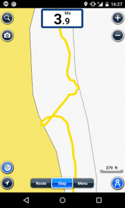 Screenshot of our GPS track.